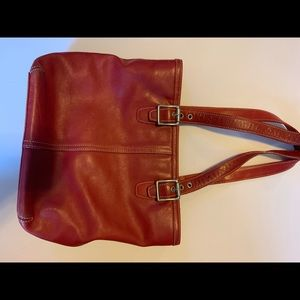 Coach! Red Leather Mini-Tote, Shoulder Bag